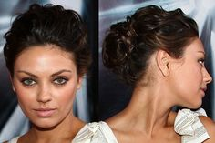 soft updo with volume