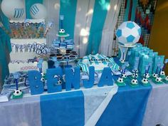 Racing Soccer Party, 1st Boy Birthday, Roasted Chicken, Racing, Baby Shower, Candy, Club, Table Decorations, Tobias