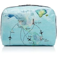 LeSportsac Extra-Large Cosmetic Case (120 BRL) ❤ liked on Polyvore featuring beauty products, beauty accessories, bags & cases, globe trotter, cosmetic bags, lesportsac, make up bag, travel bag and lesportsac makeup bag