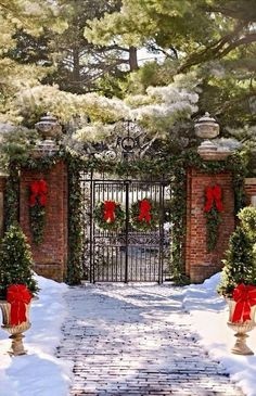 Having outdoor Christmas decorations is a fun way to decortate for the holiday season. Check out these front door christmas decorations to get fun ideas! Christmas Porch, Noel Christmas, Outdoor Christmas Decorations, All Things Christmas, Winter Christmas, Christmas Lights, Christmas Wreaths, Xmas, Southern Christmas