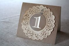 Rustic Table Number by TieThatBindsWeddings on Etsy