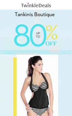 At Twinkle Deals, they are offering up to 80% discount on Tankinis Boutique. Enjoy this offer now before it expire! For more Twinkle Deals Coupon Codes visit: http://www.couponcutcode.com/stores/twinkledeals/