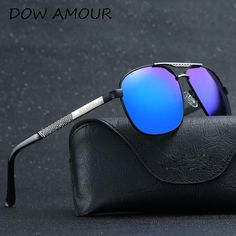 e906faf89 FuzWeb:mens Driving Sunglasses Aluminum magnesium Polarized Sunglasses Male  Top Eyewear Goggle With package Oculos