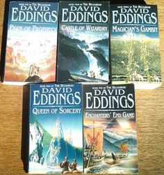 {Fantasy} The Belgariad Series, the books in order: Pawn of Prophecy, Queen of Sorcery, Magician's Gambit, Castle of Wizardry, and Enchanter's End Game. An amazing series by David Eddings that I highly recommend you read.