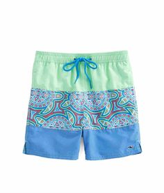 Vineyard Vines Boys Sea Of Turtles Pieced Bungalow Shorts