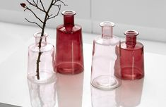 Set vaze Pico Rose, Sticla, Ø12xH17 cm, 2 piese #homedecor #interiordesign #inspiration #homedesign Drinks, Decoration, Bottle, Colors, Vintage, Drinking, Decor, Beverages, Flask