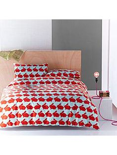 Anorak Kissing rabbits double duvet cover set - House of Fraser