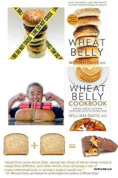 Wheat Belly Diet Cookbook ►♥◄ Wheat Free Meals: Wheat Free Meals Ideas. Wheat-free, gluten-free, soy-free, too. Inspired by Dr. William Davis's Wheat Belly books►♥◄ #carbswitch carbswitch.com #HotPinPtr