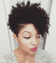 black women's short hairstyle http://www.shorthaircutsforblackwomen.com/flexi-rods-on-natural-hair/ afro