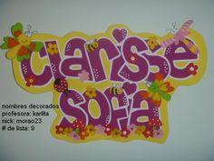 CERRADO *.::.*CURSOS NOMBRES DECORADOS EN FOAMI*.::. *****info ... Letter Art, Names, Baby Shower, Banners, Scrapbooking, Google, Home Decor Ideas, Decorating Ideas, Molde