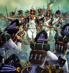 French infantry charge the Austrians at the battle of Lützen or Gross-Görschen
