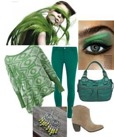 """green"" by suzana-vidic on Polyvore"