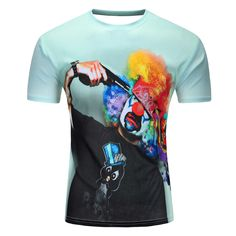 3D Printed Mens T Shirts Short Sleeve O Neck Suicidal Clown Fashion Casual Summer Brand Clothing
