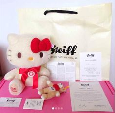 Steiff Hello Kitty Teddy bear Steiff Nature World limited 750! JAPAN NEW FS #Steiff
