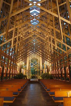 Thorncrown Chapel.  Nestled in the Ozark Mountains near Eureka Springs, Arkansas.