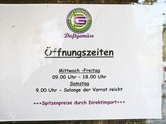 Duftgemüse Öffnungszeiten in Hamburg Niendorf und Bergedorf.