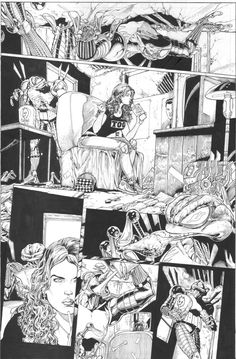 Comic Book Pages, Comic Page, Comic Books, Comic Layout, Drawing Studies, Bd Comics, Jim Lee, Comic Styles, Various Artists