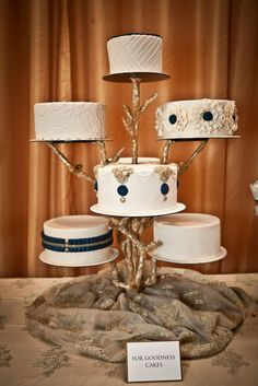 Such a unique way to display a wedding cake. **For Goodness Cake in Atlanta, GA**