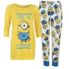Ladies Despicable Me One In A Minion Pyjamas Noghtwear cf46abd7f