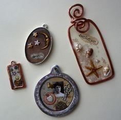 ice resin jewelry Love it ~ must try! #ecrafty