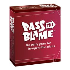 Drop the ball, make an excuse, avoid the problem, Pass the Blame. Who's to blame. Not you. In Pass The Blame players vie to make excuses, shirk responsibility and generally act irresponsibly. Point th