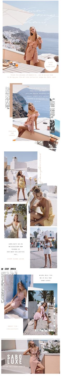 Could be quite nice for a summer ladieswear mailer depending on campaign shots.