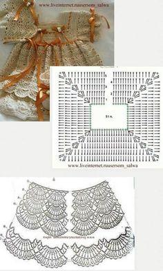 Luty Artes Crochet: Vestidos de bebê em Crochê + Gráficos.