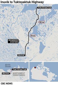 Inuvik to Tuktoyaktuk Highway Map Highway Map, Alaska Highway, Motorcycle Adventure, Retirement Ideas, Northwest Territories, Arctic Circle, True North, Camping Stuff, Mary Elizabeth