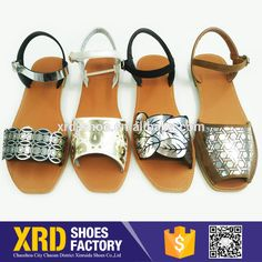 ce94a91325491 beach flat sandal women shoes china sandal factory  leather sandal