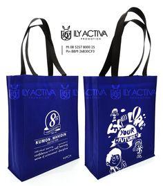 Tas Spunbond -- Kumon, Jakarta 8th Anniversary, Jakarta, Tumbler, Reusable Tote Bags, Souvenir, Drinkware, Mug