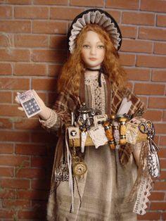 https://flic.kr/p/dQaTNw | YOUNG URCHIN PEDDLER (Close up) Dollshouse doll by Debbie Dixon-Paver