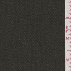 Olive Green Twill Wool Suiting #21844