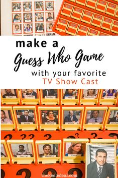 Make a guess who game with your favorite TV show cast! Get the template, gather the pictures you want to use and the rest is easy.