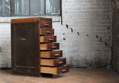 Vintage Set of Seven Wooden Drawers by jerseyicecreamco on Etsy, $275.00