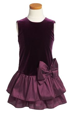 Luli & Me Velvet Ruffle Dress (Toddler Girls, Little Girls & Big Girls) available at #Nordstrom