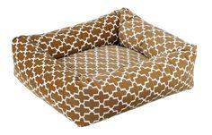 Brown Lattice Print Dutchie Dog Bed