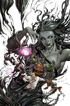 JUSTICE LEAGUE DARK #39 Written by J.M. DeMATTEIS Art by ANDRES GUINALDO and WALDEN WONG Cover by GUILLEM MARCH