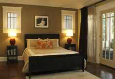 One Dark Neutral Wall Then Light Colors On Other Walls Master Bedroom Cool Things For The