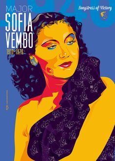 Sofia Vembo was a Greek WW II's Singer of VictoryShe began her career in Thessaloniki in the early She became famous because of her distinctly sonorous contralto voice.Her reputation however skyrocketed after the Italian attack on Greece on 28 Oc… Old Posters, Greek Music, Music Lessons, Typography Prints, Art Reference, Victorious, Black Men, Greece, Singer