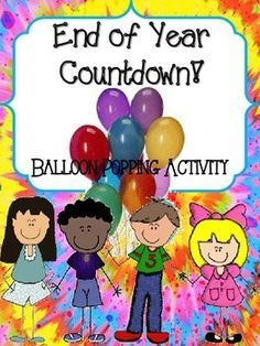 This freebie contains 10 free/inexpensive ideas to count down the last 10 days of school.  Just cut out, put in a balloon, blow up and hang in the classroom. Pop the balloon at the beginning of the day and do the activity at the end of the day.  Use as a behavior management tool as well!