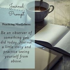 A mindfulness practice tip. Start here. Then move to observing during a situation.  Learn how to be more mindful with the 30 day mindful journal! Link in bio @familiarembrace  #mindful #minfulness #present #slowdown #mindfulnessmeditation #bemindful #balanced #journal #journaling #observe #REFLECTION #reflect