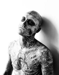 Rick Genest, o Zombie Boy em 130 Imagens