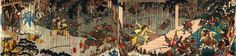 Soga Goro fighting his way toward Yoritomo.