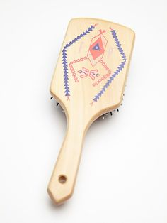 Free People by Gypsy Pea Magoo Hand Painted Wooden Brush at Free People Clothing Boutique
