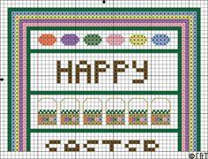 Free Easter Band Sampler Cross Stitch Pattern - Printable Easter-Themed Chart: Easter Band Sampler Cross Stitch Pattern One - Printable Easter-Themed Chart