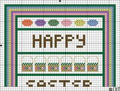 Free Easter Band Sampler Cross Stitch Pattern - Printable Easter-Themed Chart: Easter Band Sampler Cross Stitch Pattern One - Printable Easter-Themed Chart