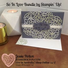 Live in Australia? Shop Online with me 24/7 & reap the rewards! #SoInLove for #JAI341 by #JessieHolton #StampinUp