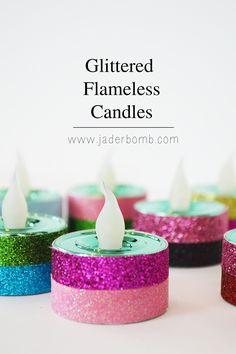 New Years Eve Glittered Tea lights - JADERBOMB