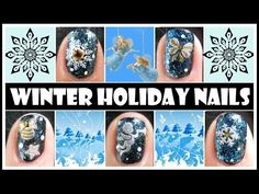 WINTER HOLIDAY NAILS | SNOWFLAKE CHRISTMAS STAMPING NAIL ART DESIGN TUTORIAL FOR HORT NAILS EASY - YouTube