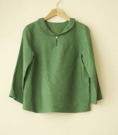 LINNET Linen blouse リネンブラウス NO.8ヘチマ衿ブラウス by ollie